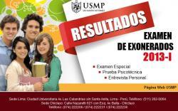 Resultados Examen USMP 2013-1, www.usmp.edu.pe, 13 Enero 2013
