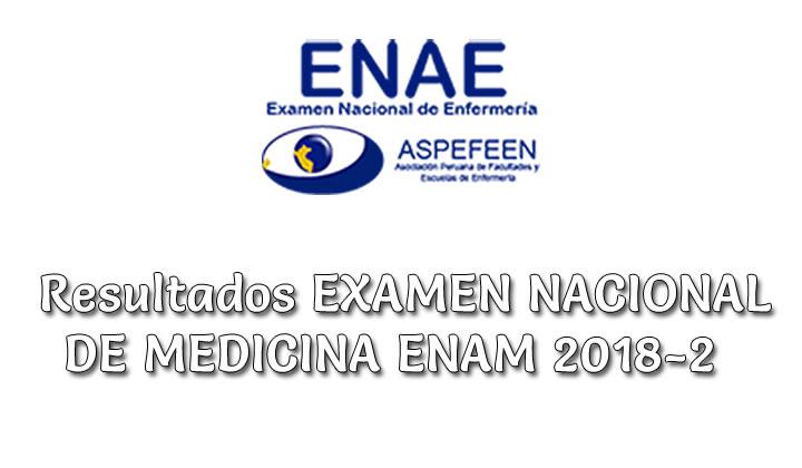 Resultados y Puntajes Examen de ENAE 2018-2