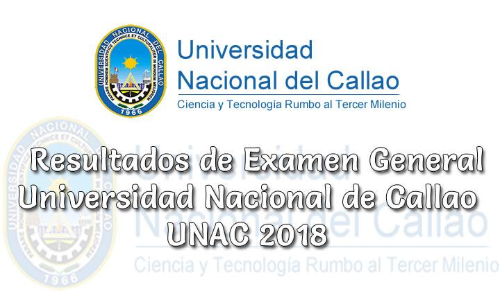 Resultados Examen General Universidad Nacional de Callao UNAC