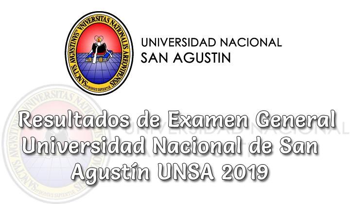 Resultados de examen de admisión UNSA 2019 Fase I