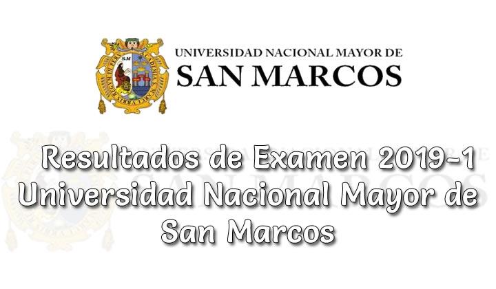 Resultados de Examen UNMSM 2019-1