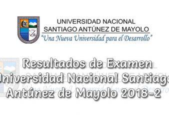 Resultados de Examen UNASAM Universidad Nacional Santiago Antúnez de Mayolo 2018-2