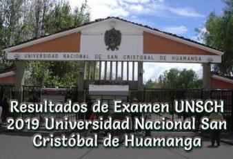Resultados de Examen UNSCH 2019 Universidad Nacional San Cristóbalde Huamanga
