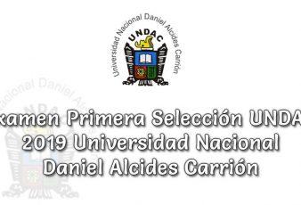 Resultados de Examen Primera Selección UNDAC