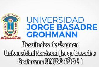 Resultados Examen UNJBG FASE I