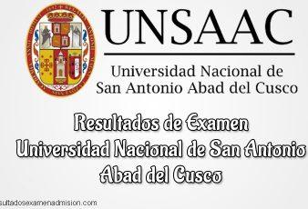 Resultados Universidad Nacional de San Antonio Abad del Cusco