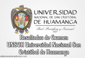 Resultados de Examen UNSCH Universidad Nacional San Cristóbal de Huamanga