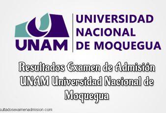 Resultados de Examen Universidad Nacional de Moquegua