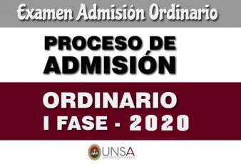 Examen admisión Unsa 2020
