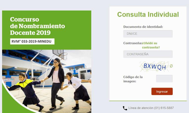 Resultados Examen Nombramiento Docente 2019