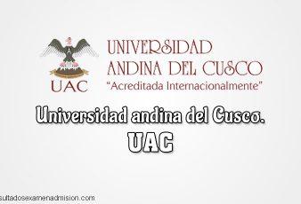 Resultados Universidad andina del Cusco UAC