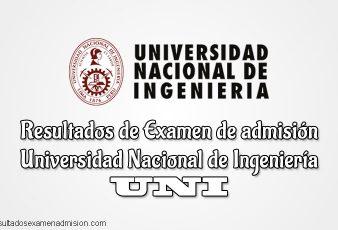 Resultados de Examen de admisión Universidad Nacional de Ingeniería UNI