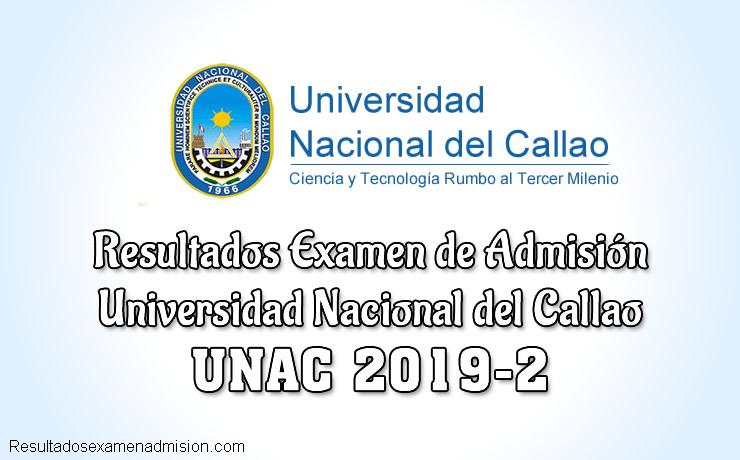 Resultados de examen UNAC 2019-2