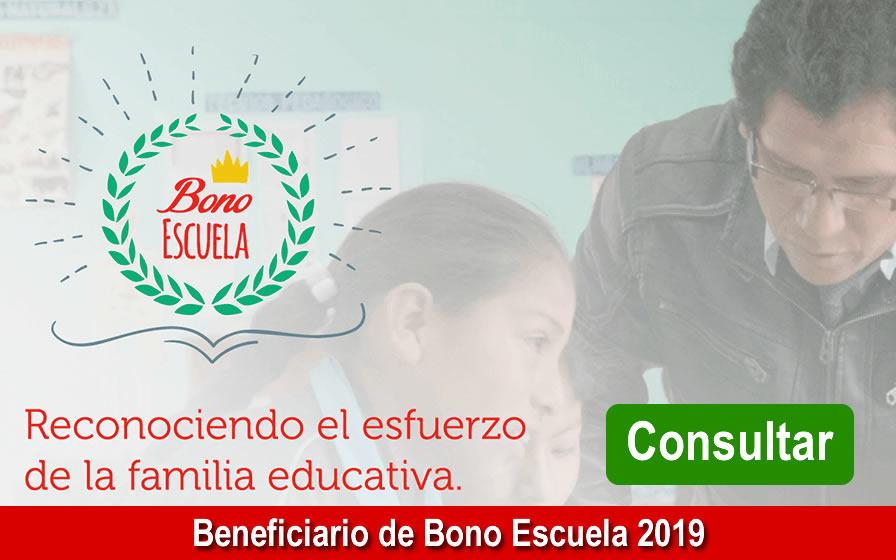 Beneficiarios de Bono Escuela 2019