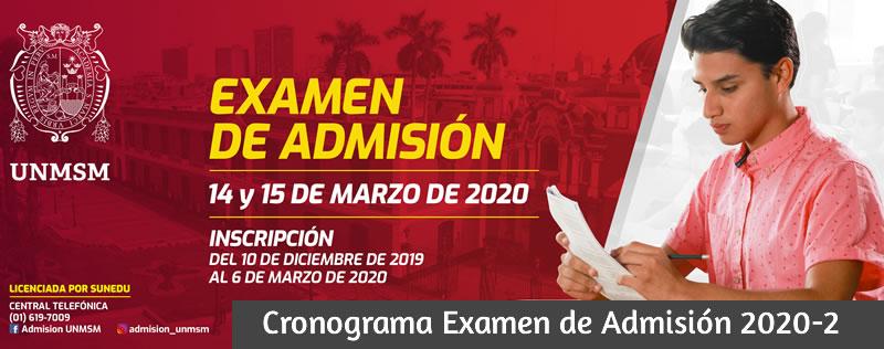 Examen Admisión San Marcos 2020-2