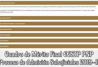 Cuadro de Mérito Final EESTP PNP