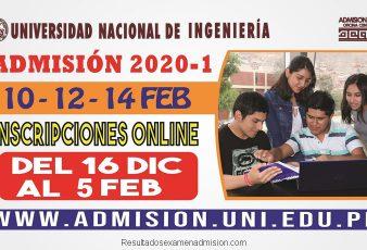 Resultados Examen Universidad Nacional de Ingeniería 2020-1