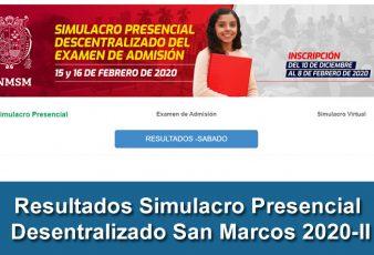 Resultados Segundo Grupo Simulacro Presencial Desentralizado 2020-2