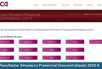 Resultados Simulacro Presencial Descentralizado 2020-2