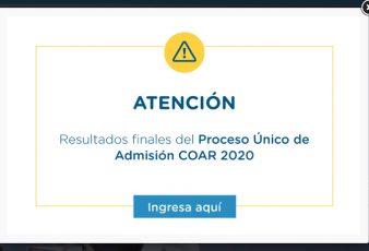 Resultados Examen COAR 2020