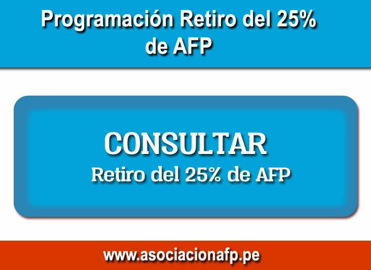 Consultar Retiro del 25% de AFP