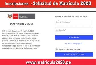 Solicitud para Traslado de Colegio MINEDU 2020
