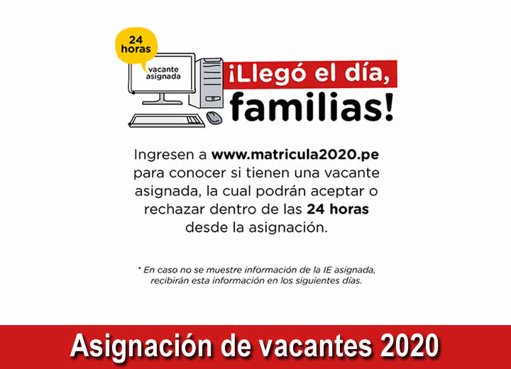 MINEDU Asignación de vacantes 2020