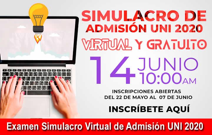 Resultados Examen Simulacro Virtual de Admisión UNI 2020