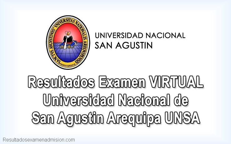 Resultados Examen Admisión Virtual UNSA