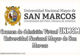 Resultados Examen Virtual Universidad Nacional Mayor de San Marcos