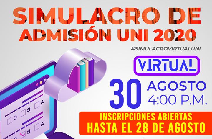 Resultados Simulacro de Admisión Virtual UNI 2020