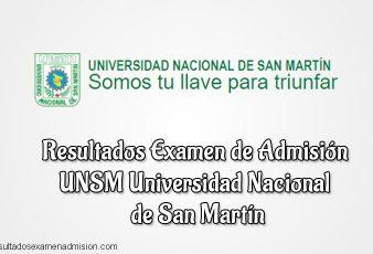Resultados Examen de admisión UNSM