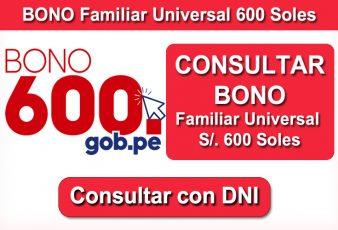 Consultar Bono Familiar Universal de 600 soles