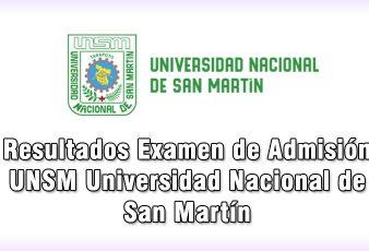 Resultados Examen UNSM Universidad Nacional San Martín
