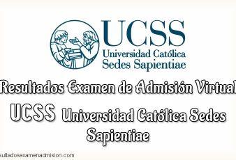 Resultados Examen admisión UCSS
