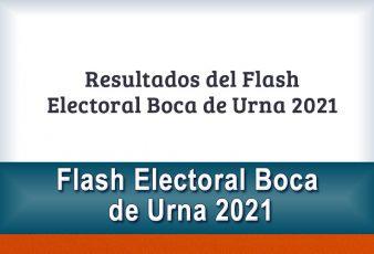 Resultados del Flash Electoral Boca de Urna 2021